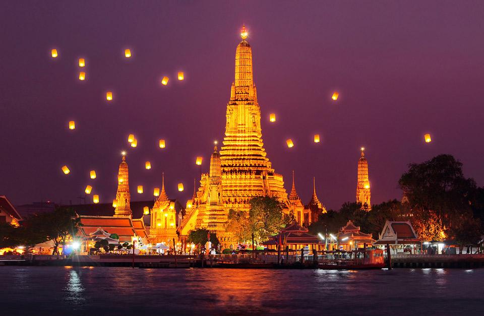 Chùa Wat Arun về đêm